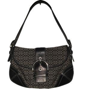 Coach black Soho signature small shoulder bag
